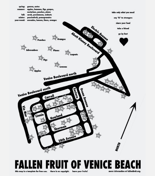 Fallen Fruit, Public Fruit Maps, 2004
