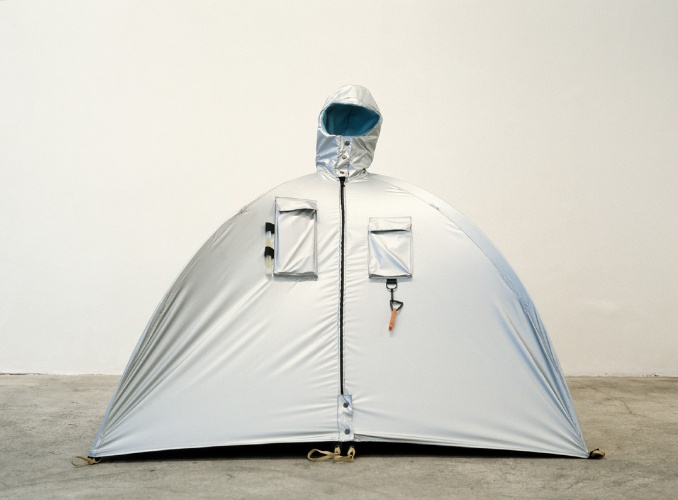Lucy Orta, Refuge Wear Habitent, 1992 - 1993. Courtesy: collection of the Artists