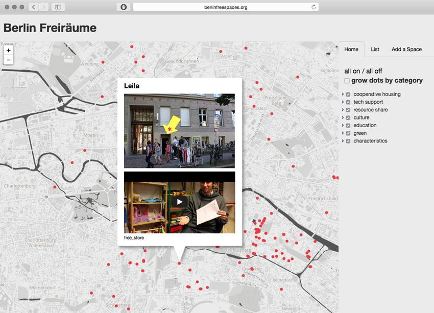 Jaime Iglehart, Freiräume Map Berlin, 2009
