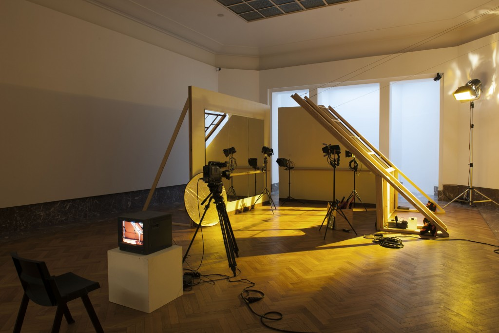 Marinella Senatore, Rosas: Movie Set, 2012. Installation view at Bozar, Bruxelles, BE.